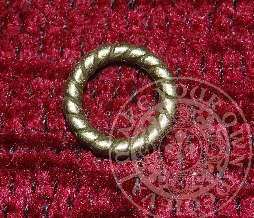 Twist Lacing Ring Antique -Set of 20