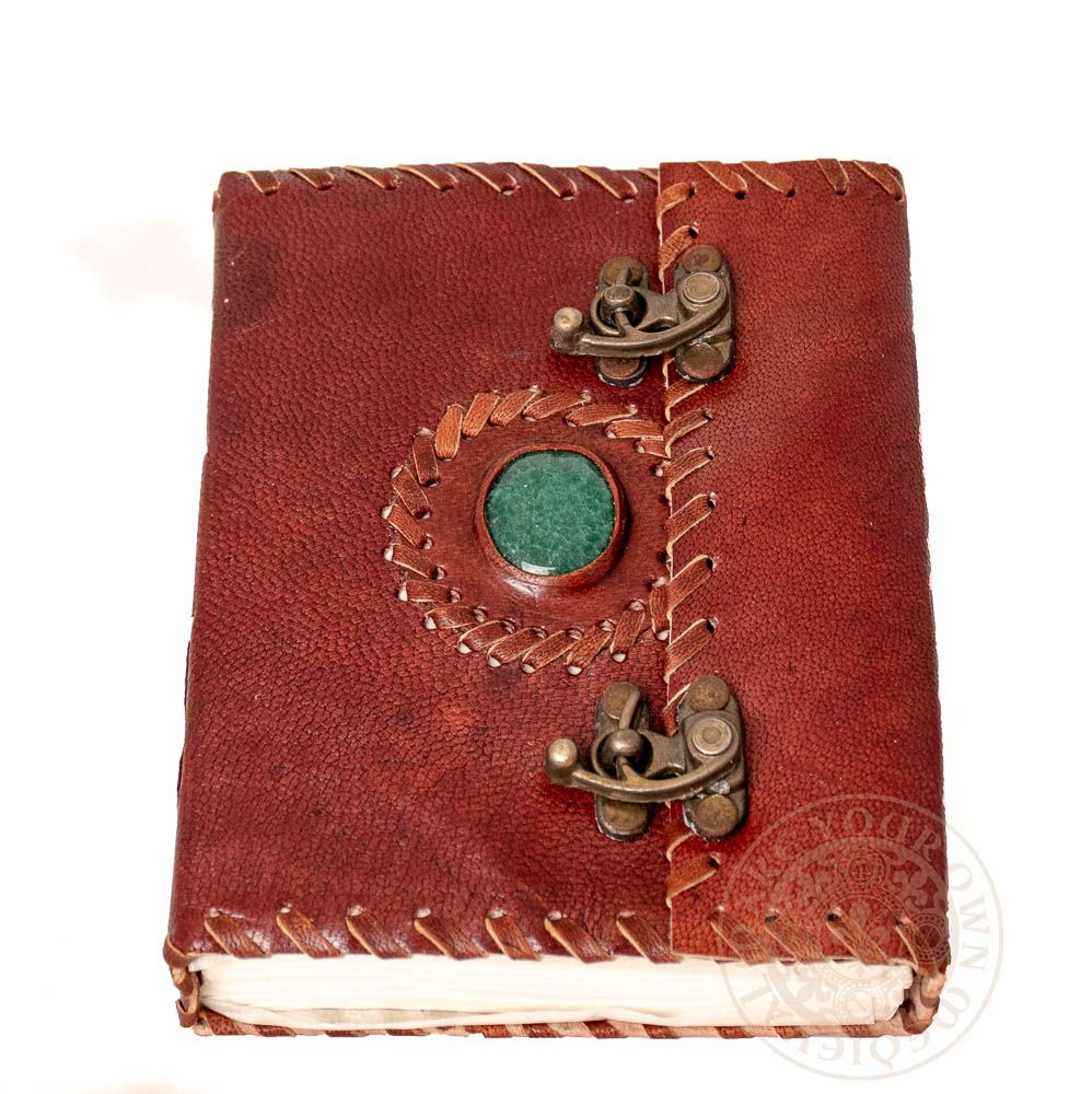 Dragons eye leather journal with clasp