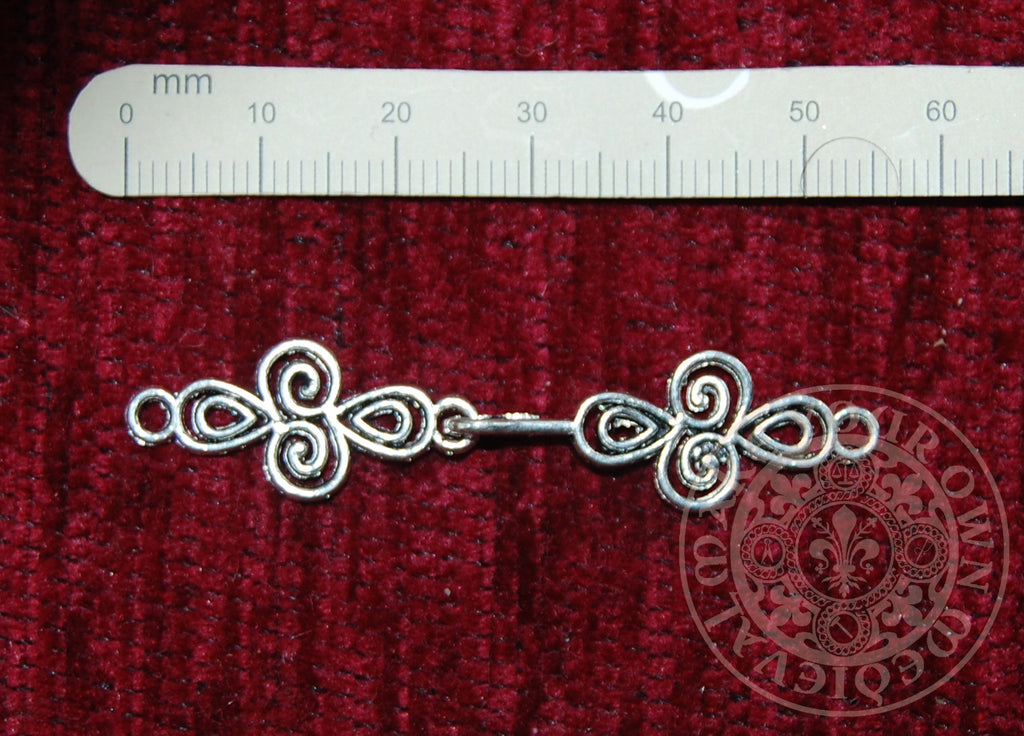 Spiral Dress Hook or Jewellery Clasp