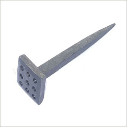 Forged Nail 7.7cm Long. Square Decorative Head Type 2