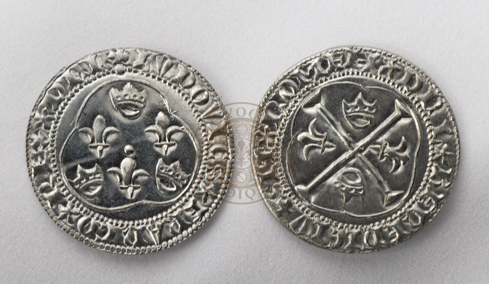 French 15th century medieval reproduction coin