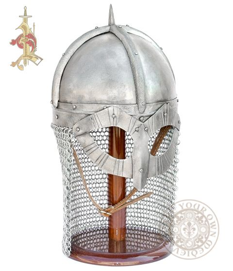 Gjermundbu Viking helm reproduction With Butted Chainmail combat helm