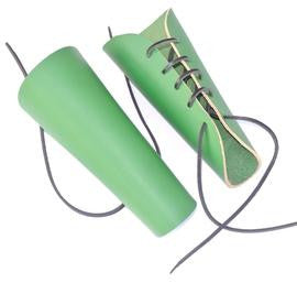 Green Leather Archery Bracers - Veg Tan Leather (Pair)
