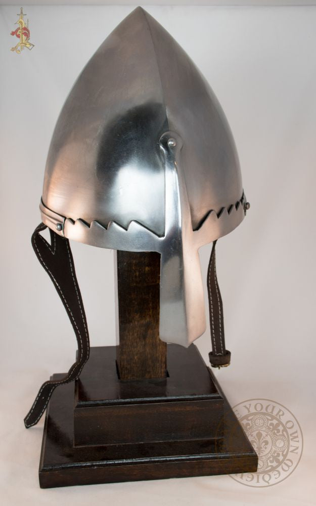 Helmet of St Wenceslas medieval armour reproduction for reenactment combat