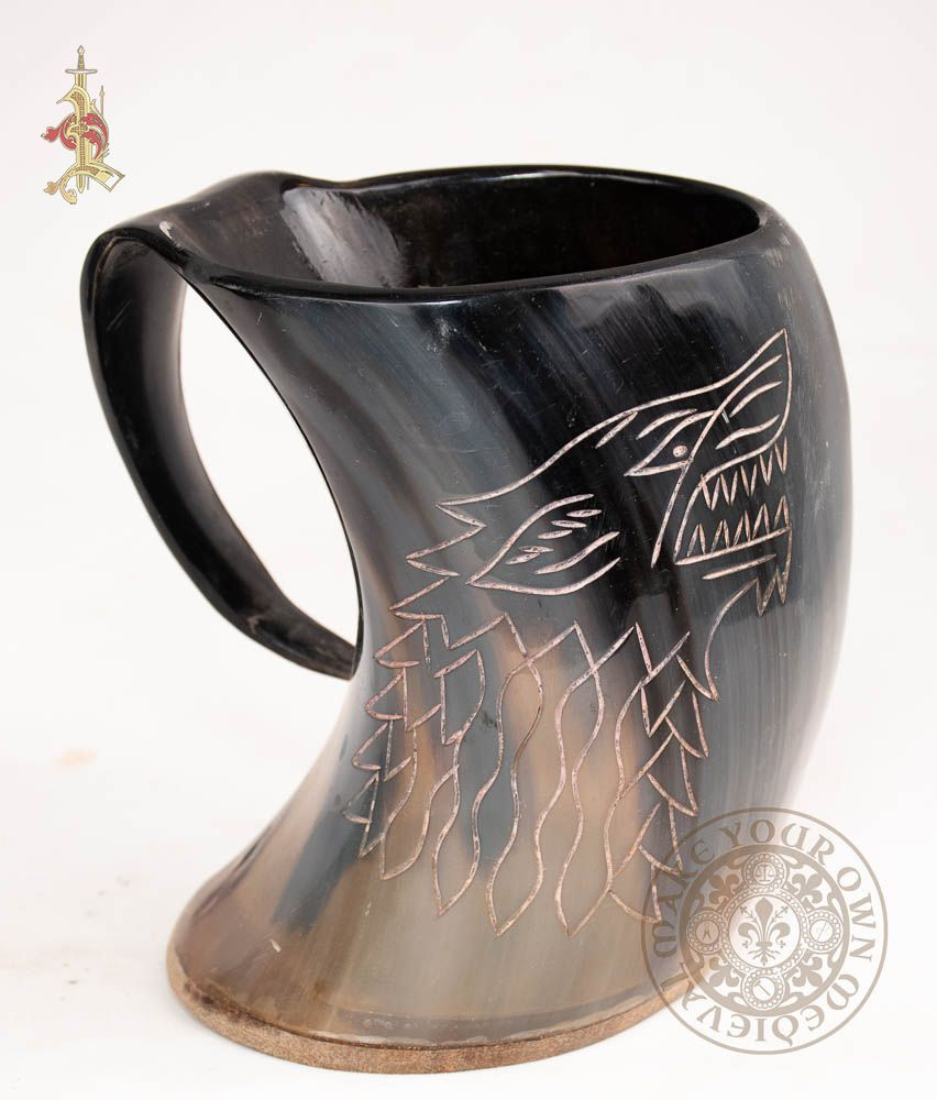House Stark tankard made from cow horn