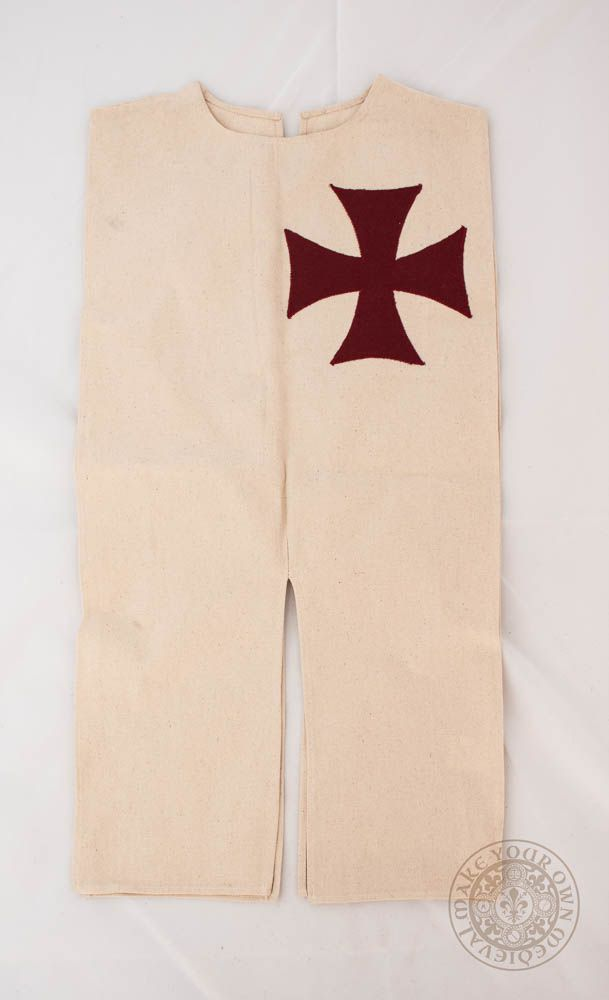 Kids crusader tabard tunic for costume and clothing