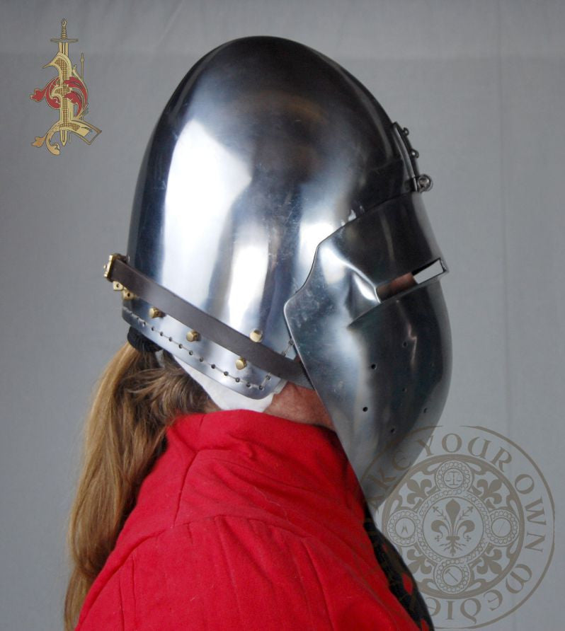 Klappvisor Bascinet Medieval Helmet Reproduction