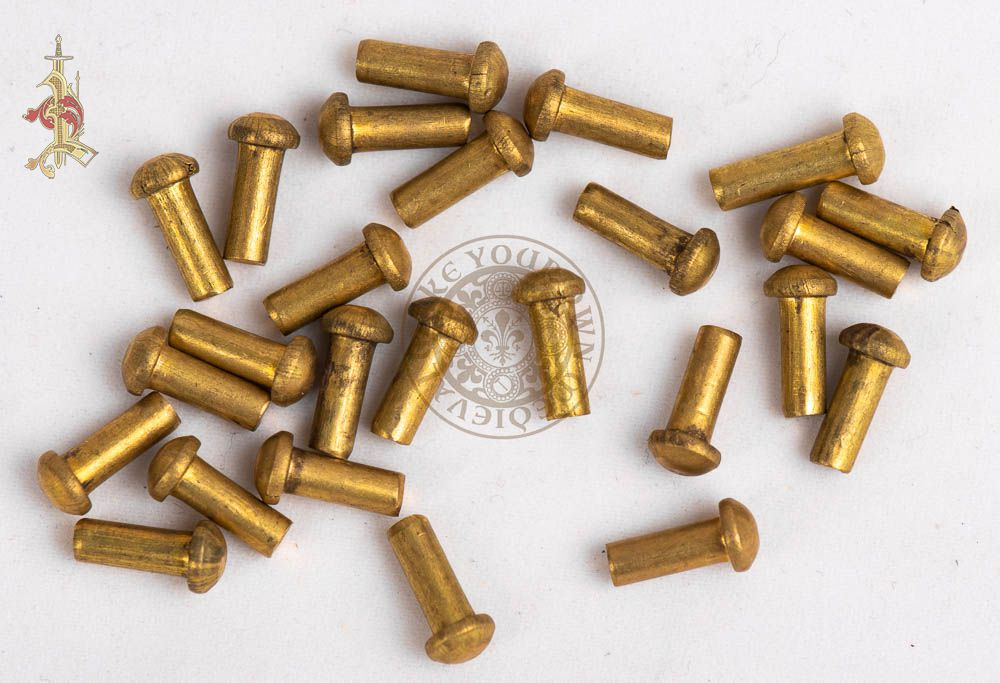 Solid Brass Rivet 10mm x 3mm