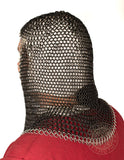 Knights chainmail coif armour SNC1401BK&ZP