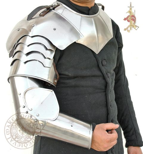 Arm and Pauldron LARP Plate Armour Set 18 Gauge Steel