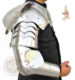 LARP plate armour Australia includes Medieval Arm and shoulder armour harness