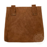 Large brown leather Medieval LARP healers bag