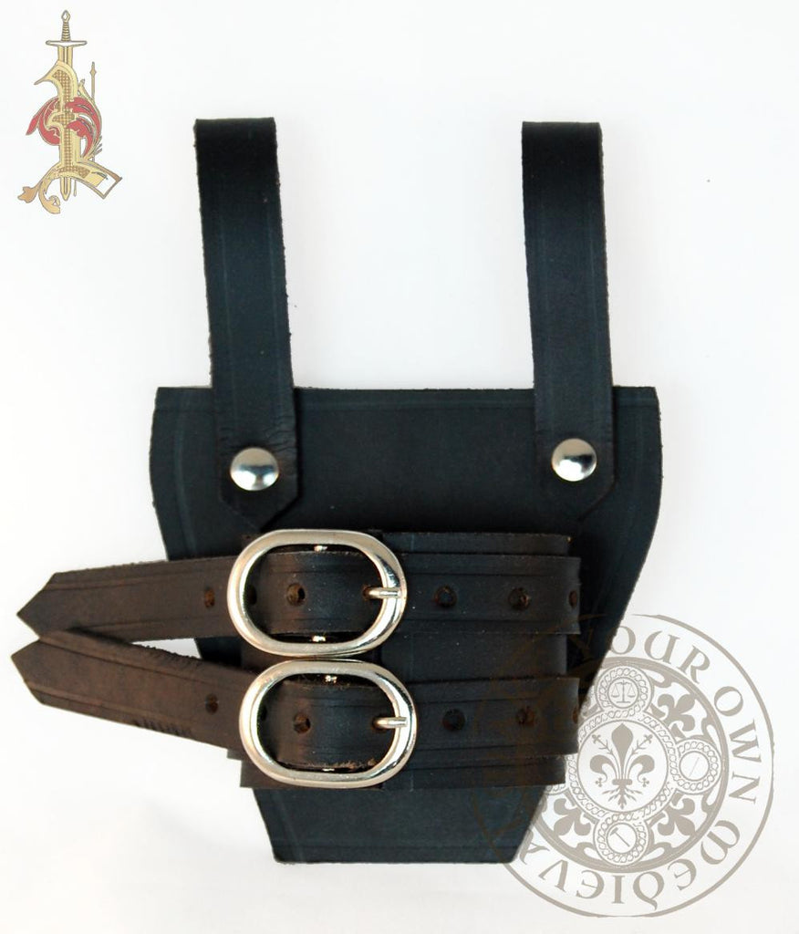 Sword Holder / Frog with Two Buckles - Black