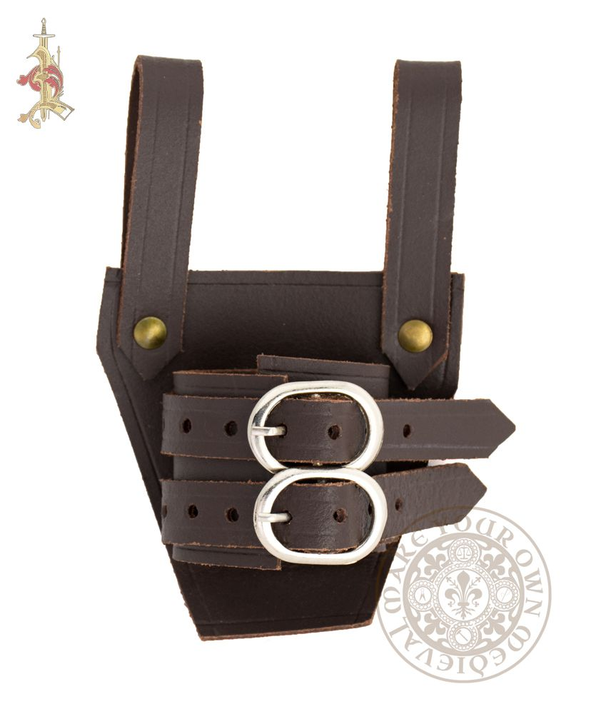 Sword Holder / Frog with Two Buckles - Brown