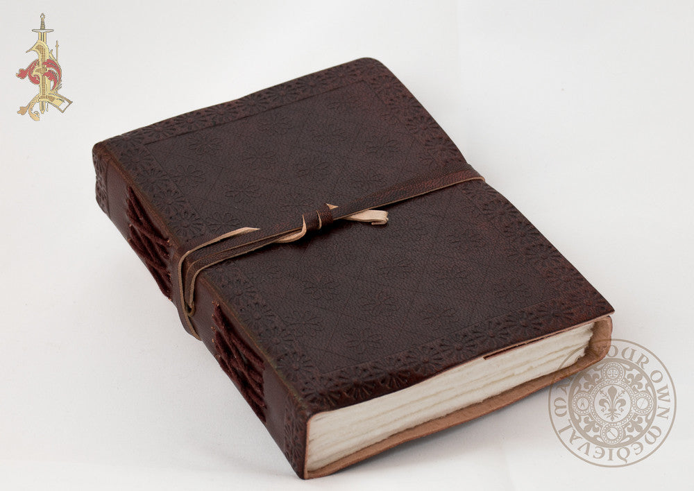 Leather bound book diary gift or office
