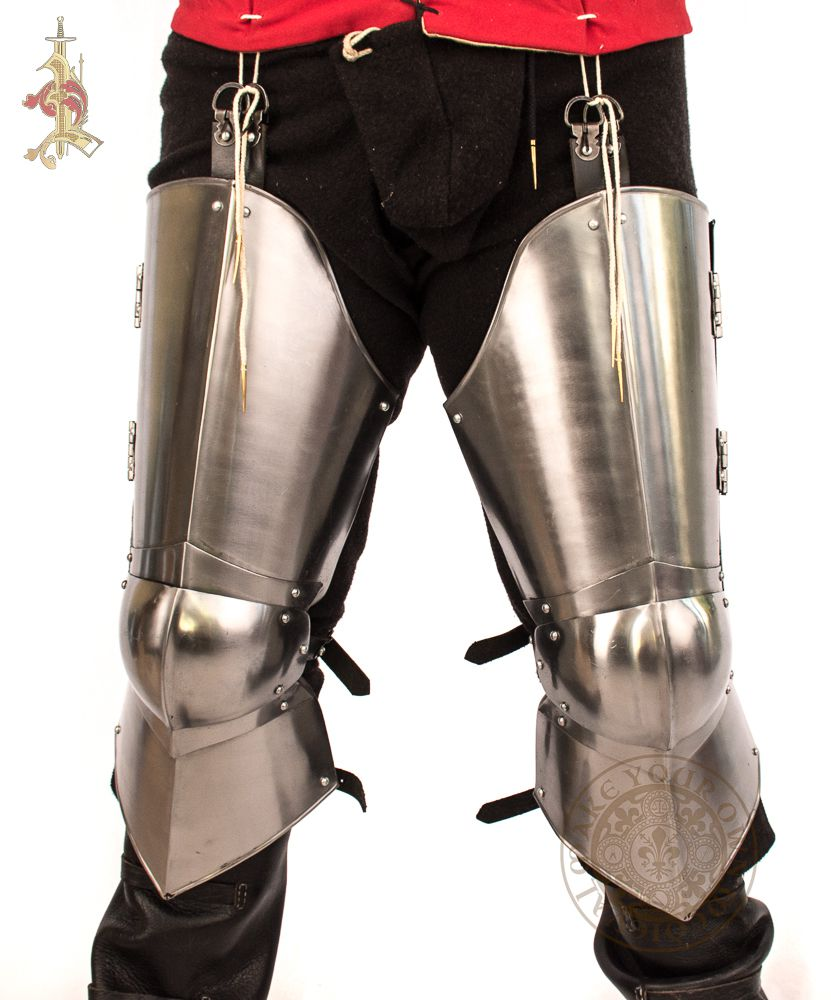 Leg armour 14th century medieval reenactment reproduction