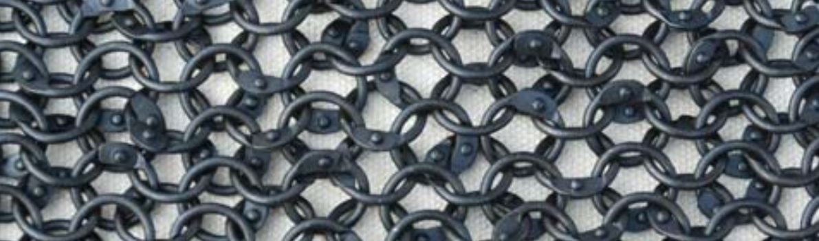 Loose Blackened Chainmail Rings 6mm 18g Round Ring. Includes Round Rivets