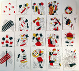 Medieval 14th century playing cards reproduction Morsica deck