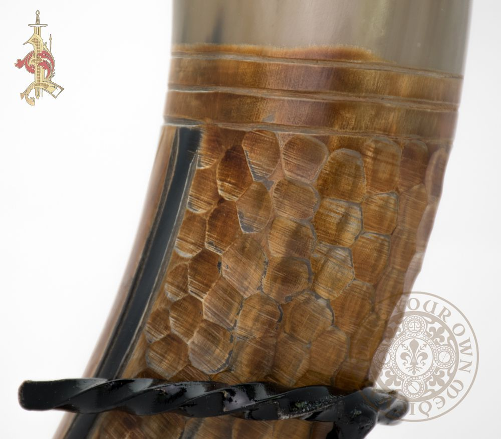 Medieval Dragon scale drinking horn