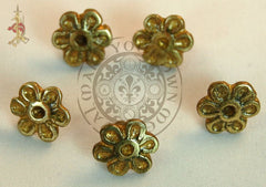 Medieval Flower belt mounts for historical re-enactment