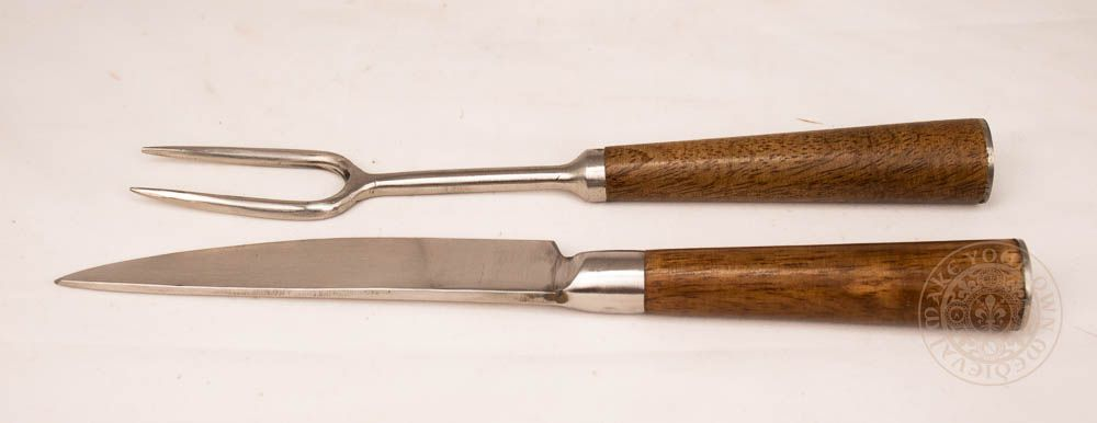 Medieval Fork and Knife Cutlery Set - Stainless Steel
