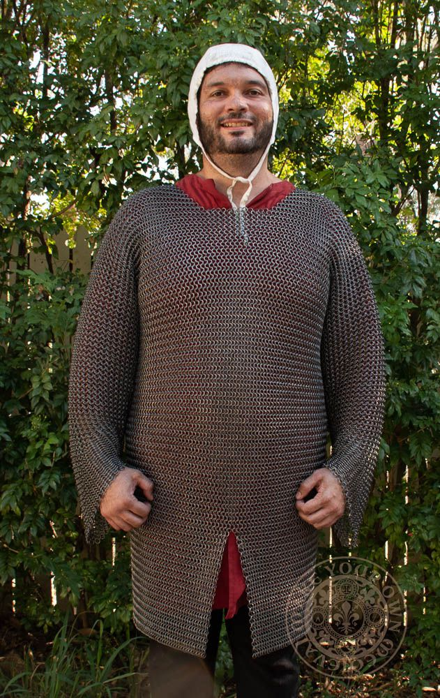 Knights Chainmail armour Hauberk Butted High Tensile