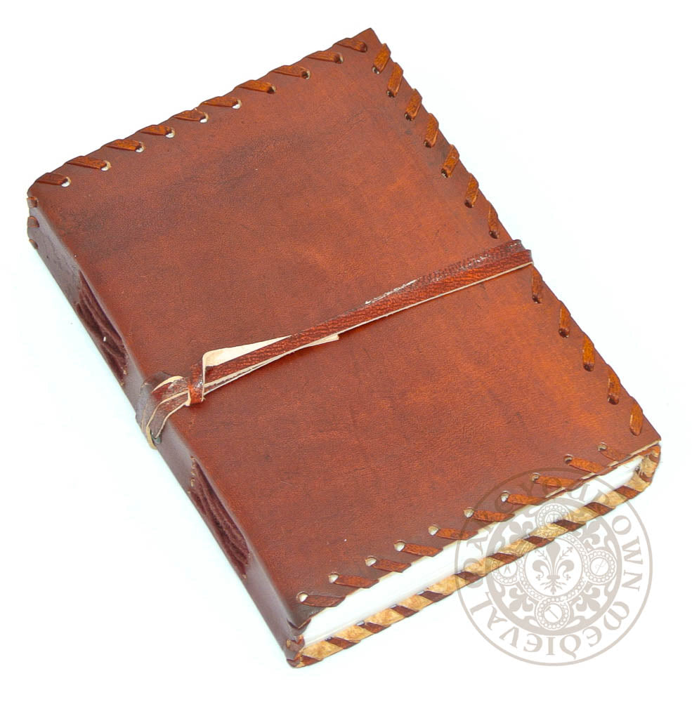 Medieval Leather Diary  with Stitched Edges