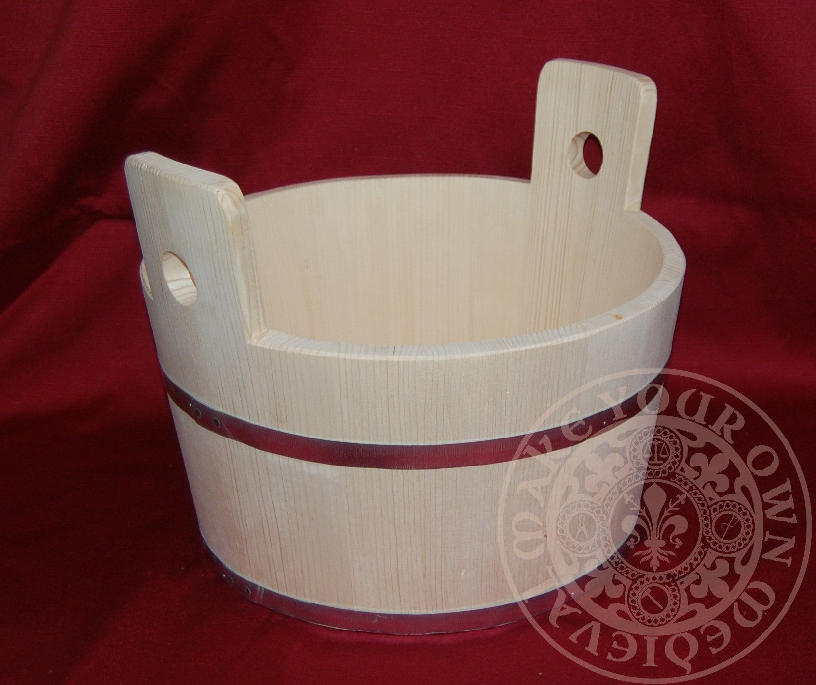 Large Wooden Bucket / Tub 15 litres