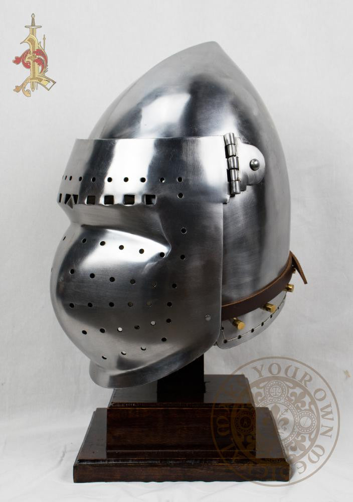 Bascinet Helm Mid to Late 14th Century 14 Gauge