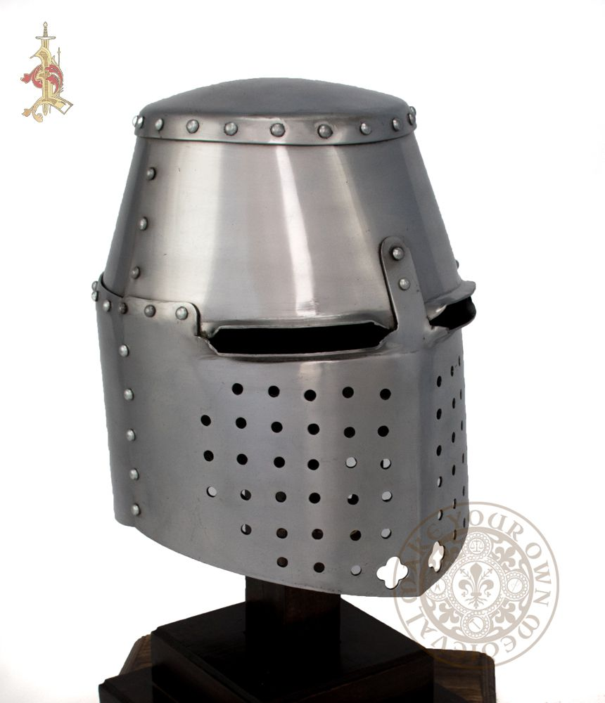 Medieval great helm 14th century reproduction armour