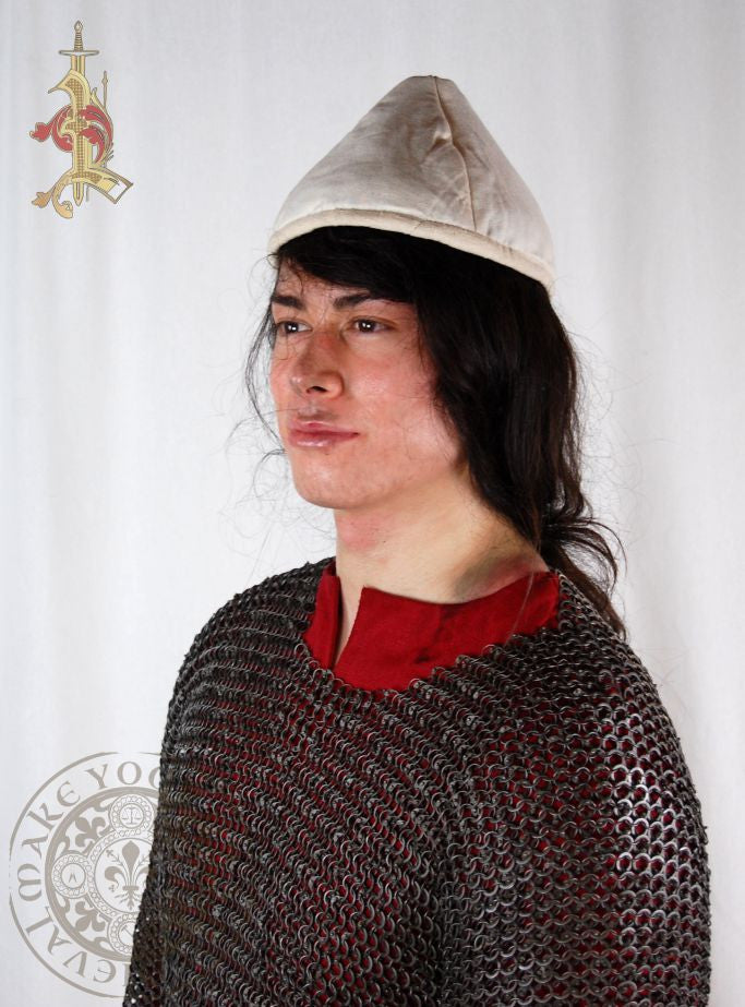 Medieval or Viking padded cap or hat armour