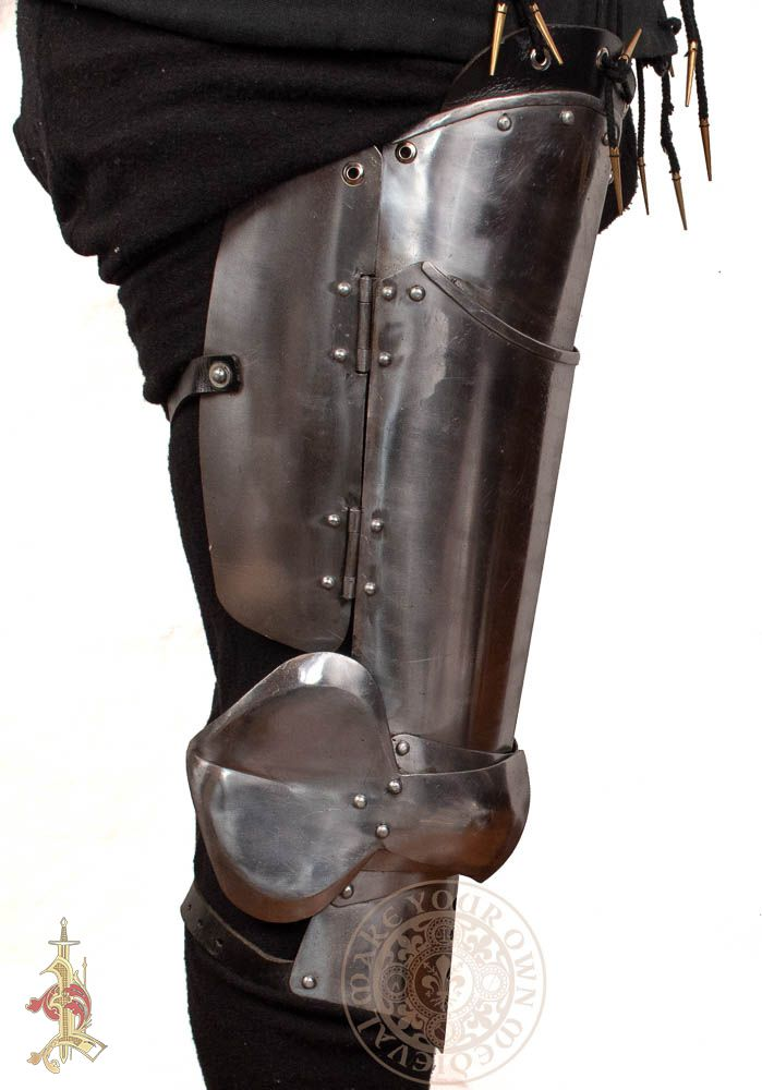 15th Century Milanese Cuisse Leg Armour - 16 Gauge