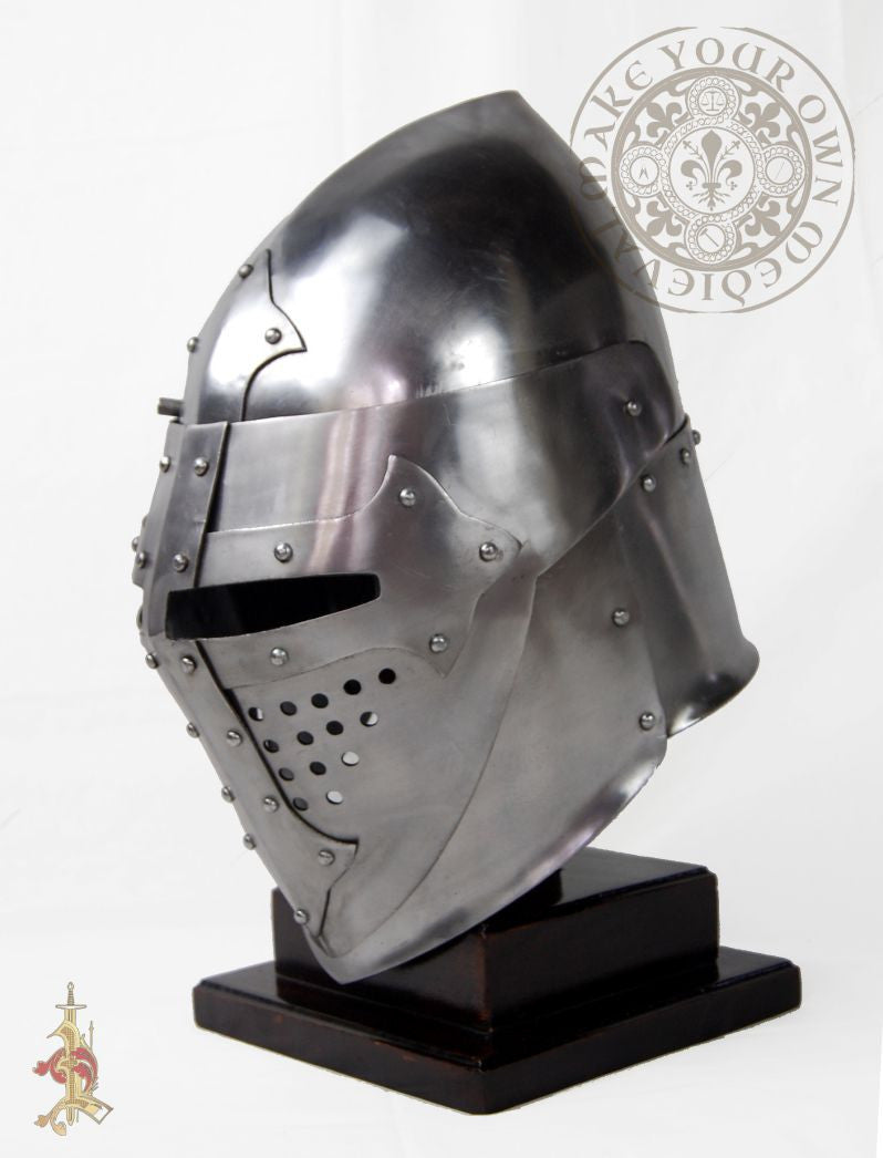 Medieval reenactment helm or helmet 14 gauge steel