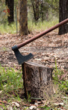 Medieval wood working axe and tools
