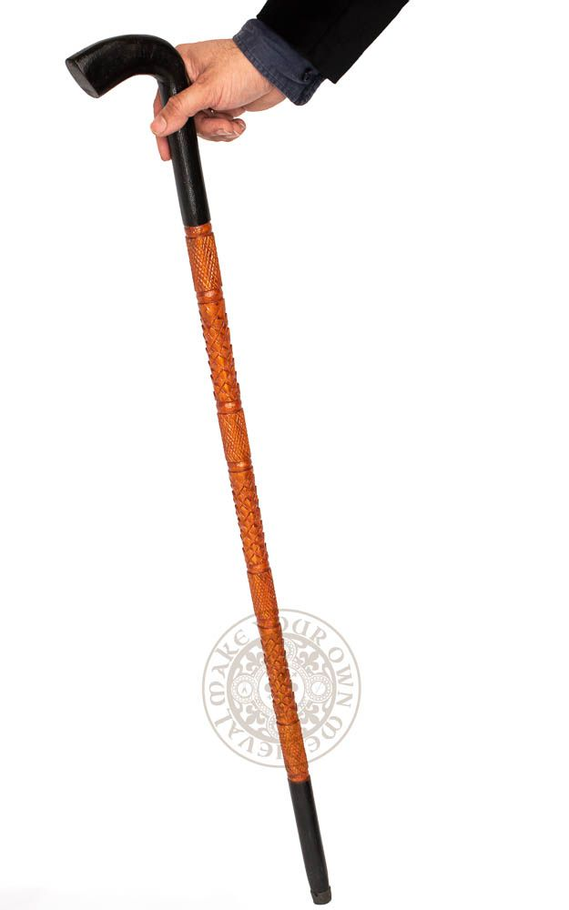 Walking stick Western - Black Handle