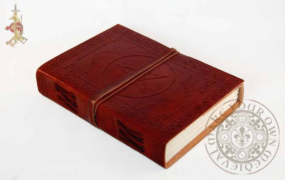 Pentagram Book of Shadows Leather Journal