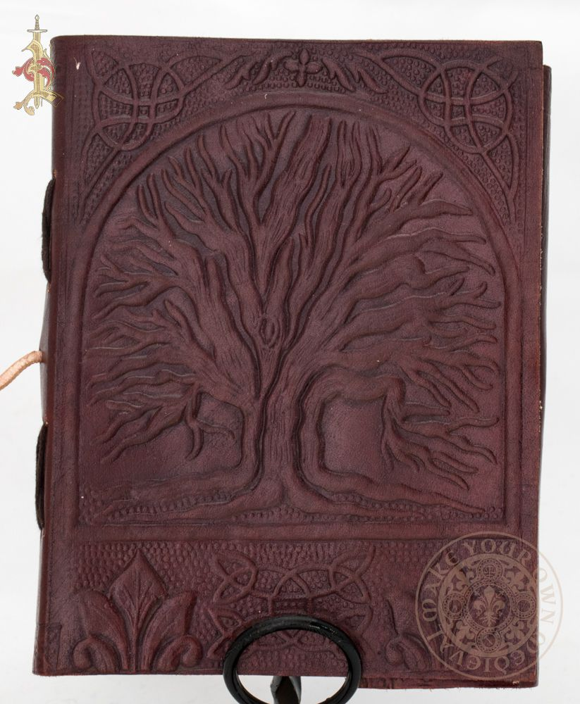 Tree of Life and Triquetra Leather Journal