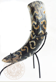"Crescent Moon Drinking Horn 33cm - 38cm (13""-15"")"
