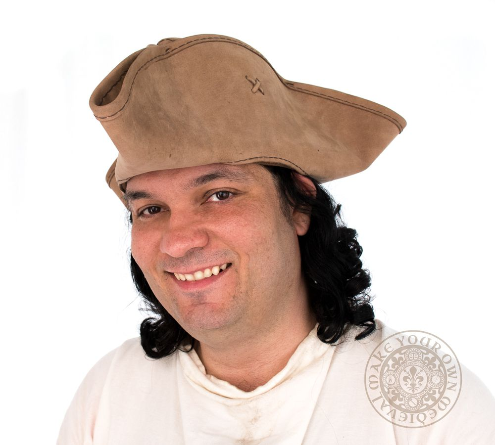 Pirate hat made from leather