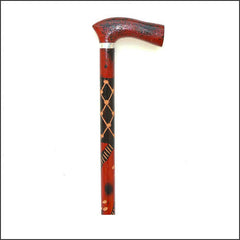 Red and Black walking stick