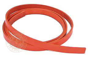 Red leather veg tan belt blank 12mm wide strap width