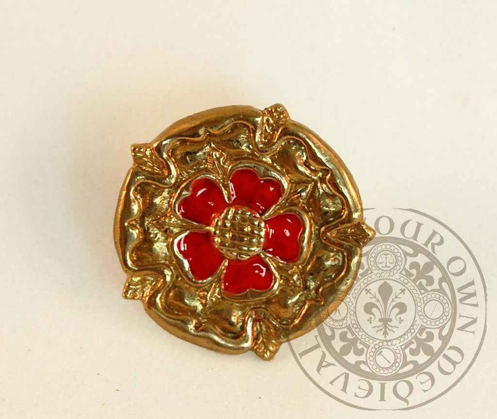 Tudor Rose Enameled Belt Mount