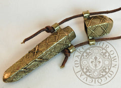 Renaissance needle case for historical costume, clothing and accessories