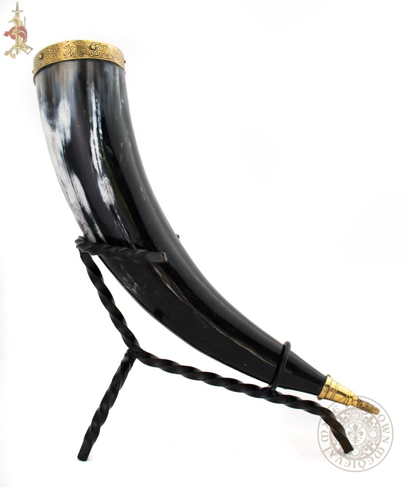 game of thrones lannister Drinking horn with lion head terminal