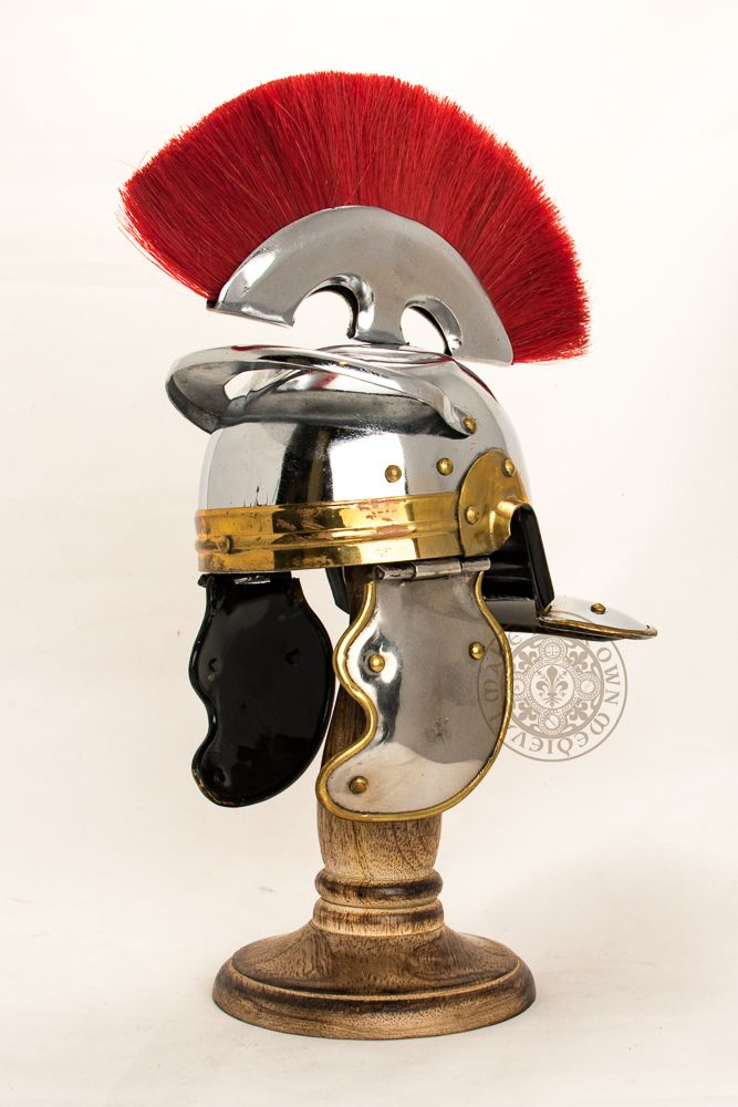 Roman Mini helmet on stand