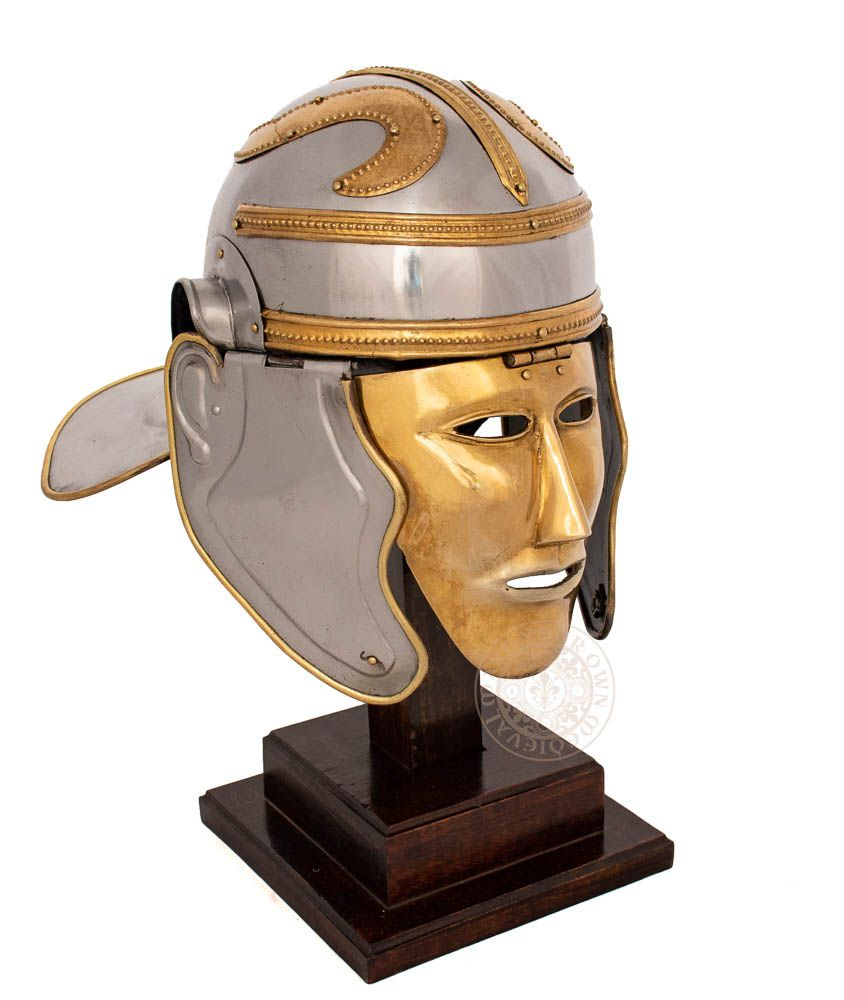 Roman officers helmet with face plate