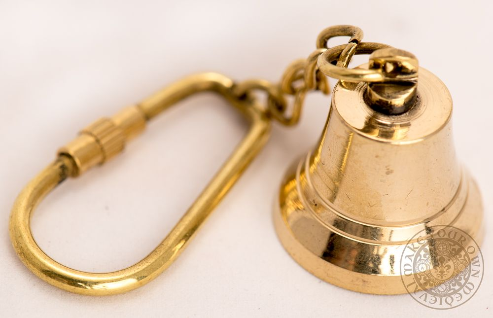 Ship's bell key chain made from brass fishing gifts for dad