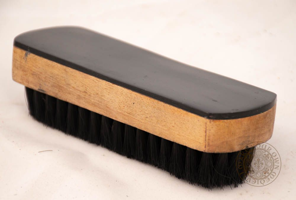 Shoe Brush with Backed Horn Vintage style