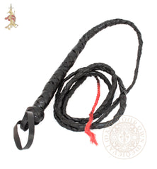 Six foot leather bullwhip indiana jones or catwoman costume
