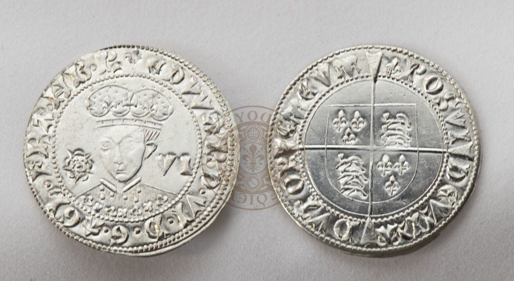 Sixpence of Edward VI Son of Henry VIII 16th century tudor reproduction Renaissance coin